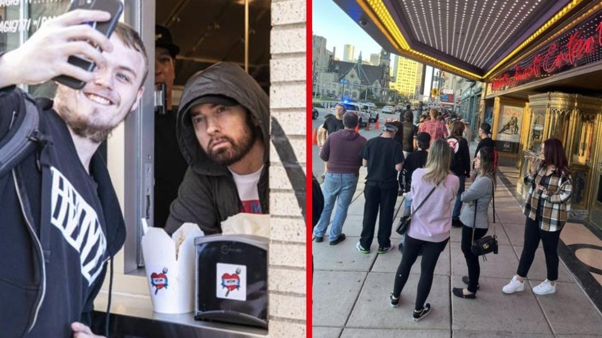 Makarna restoranı açan Eminem, hayranları ile fotoğraf çekildi