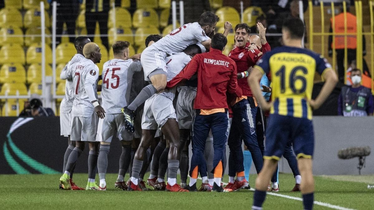 Kadıköy'de facia! Maç sonucu: Olympiakos-Fenerbahçe: 0-3