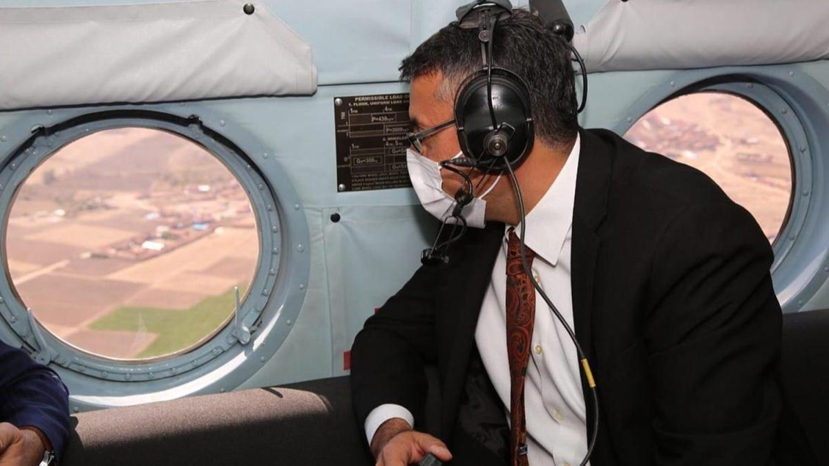 Kütahya'da helikopter destekli trafik denetimi yapıldı
