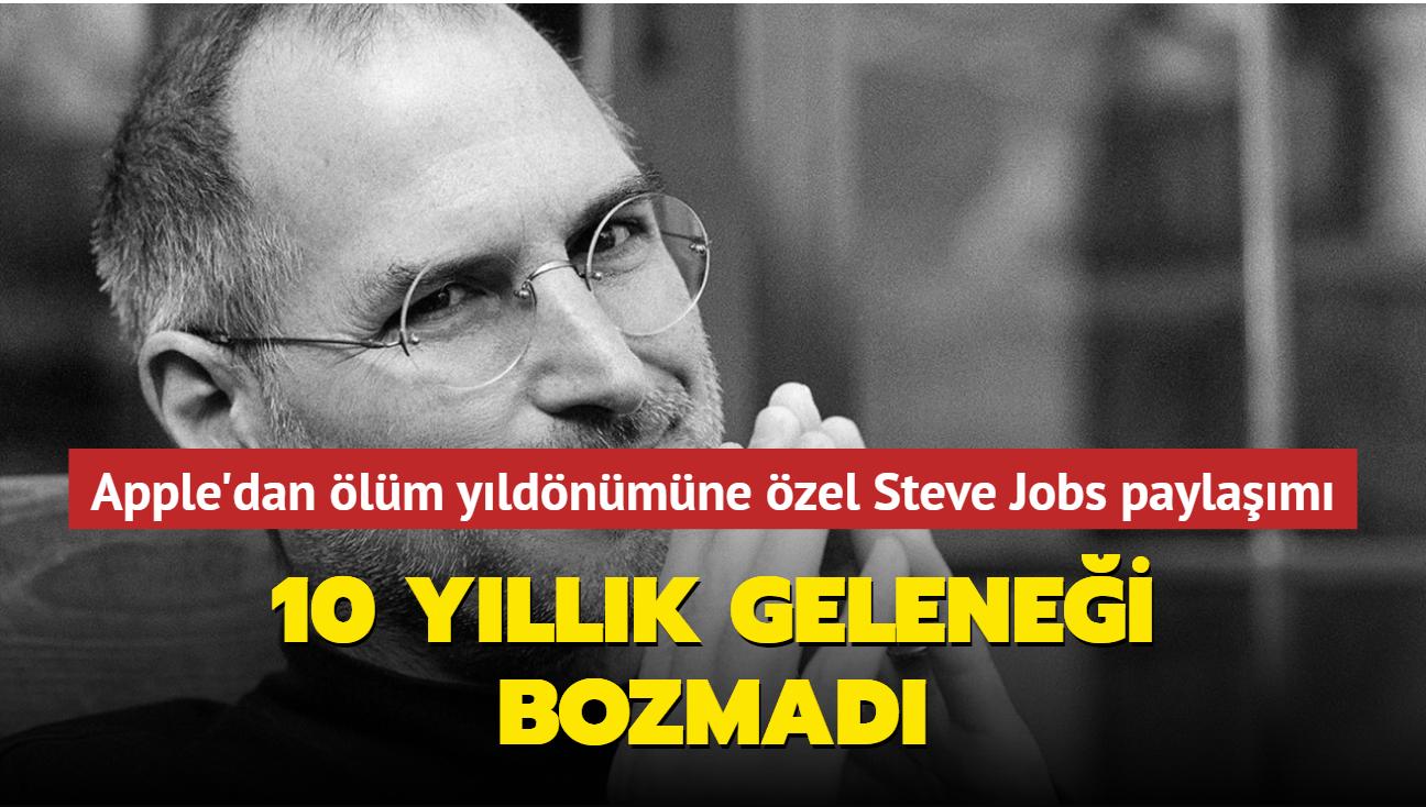 Apple, Steve Jobs'ın 10. ölüm yıldönümüne özel bir paylaşım yaptı