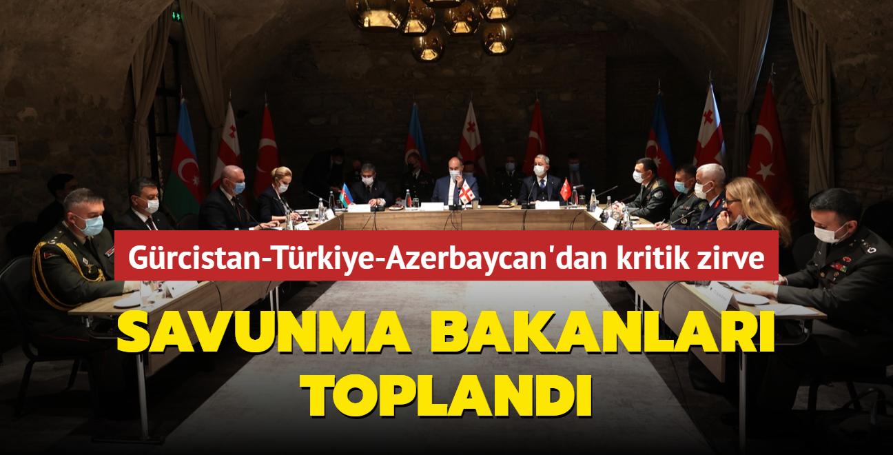 Gürcistan-Türkiye-Azerbaycan hattında önemli zirve... Savunma bakanları toplandı