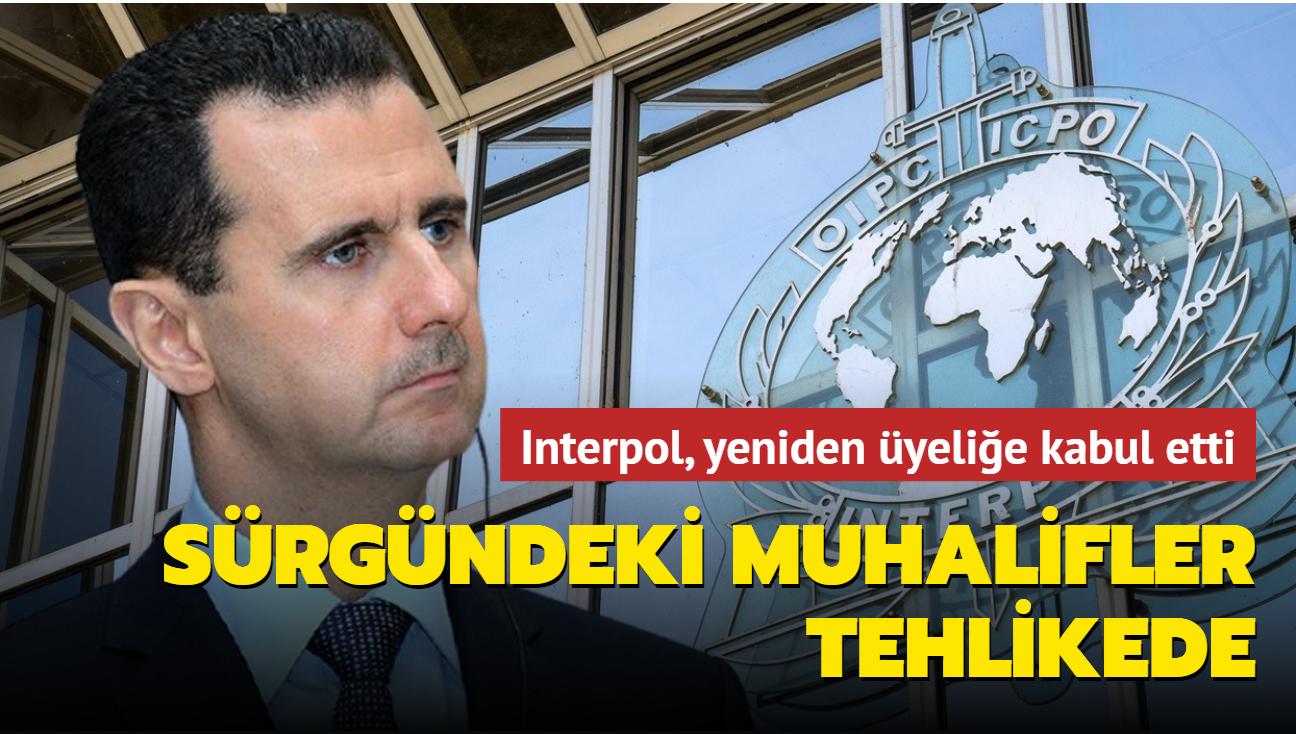 Interpol, Esed rejimini yeniden üyeliğe kabul etti... Sürgündeki muhalifler tehlikede