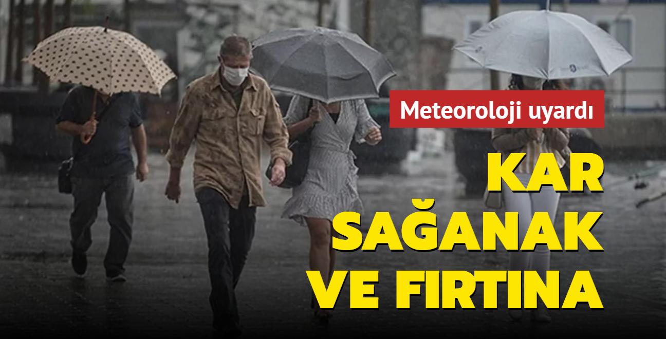 Meteoroloji uyardı: Marmara, Karadeniz ve Doğu Anadolu'da sağanak var