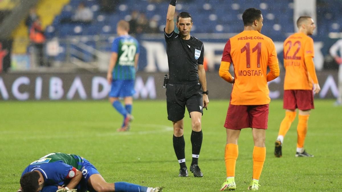 Rizespor - Galatasaray maçı hakemlerine 4 maç 'ceza'