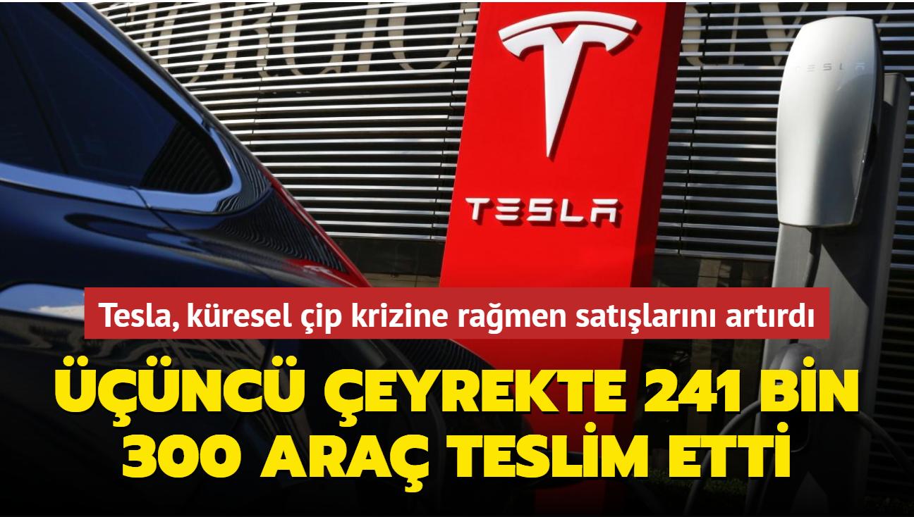 Tesla, küresel çip krizine rağmen yılın üçüncü çeyreğinde satışlarını artırdı