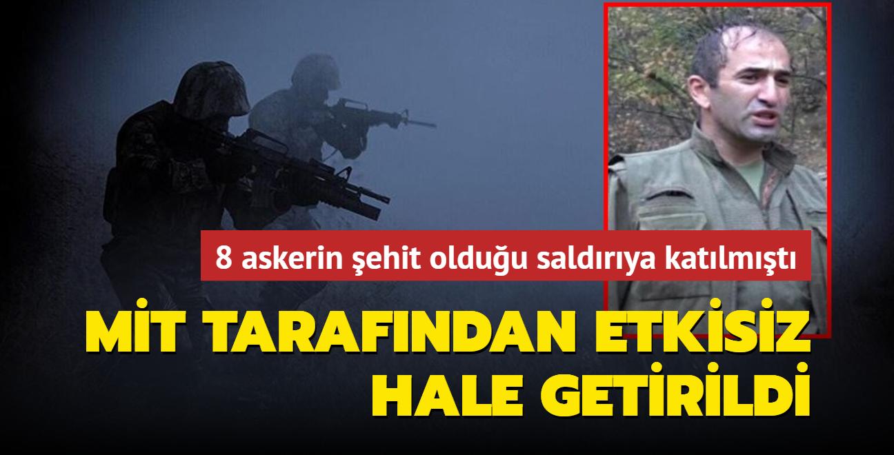 2012'deki Dağlıca saldırısına katılan PKK'lı terörist etkisiz hale getirildi