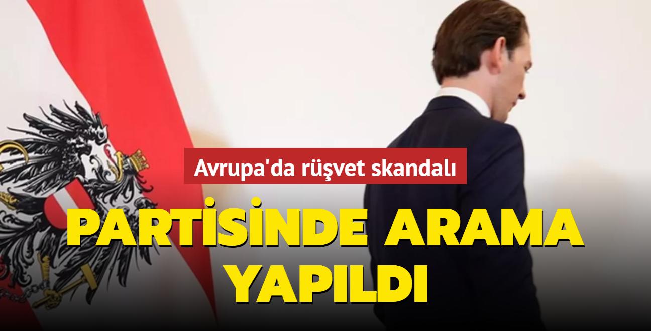 Avusturya'da rüşvet skandalı! Başbakan Kurz'un partisinde arama yapıldı