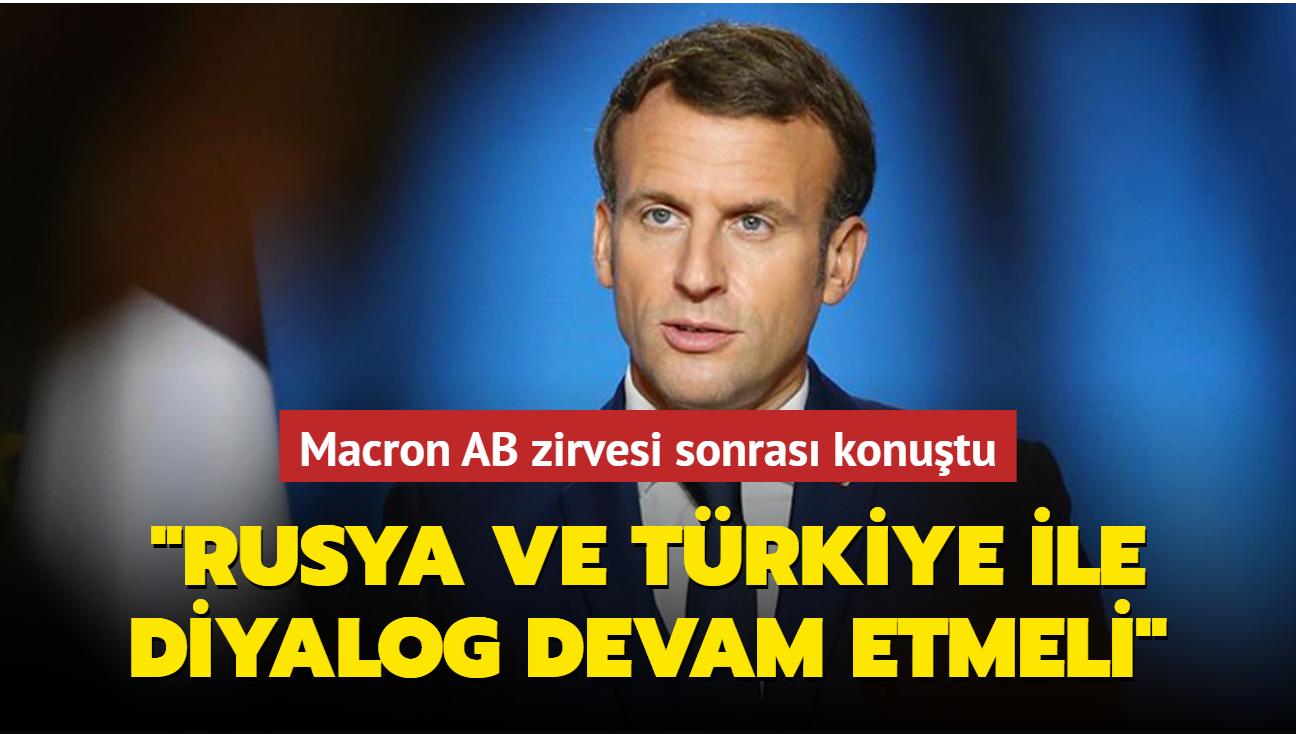 """Macron AB-Batı Balkanlar zirvesi sonrası konuştu: """"Rusya ve Türkiye ile diyalog devam etmeli"""""""