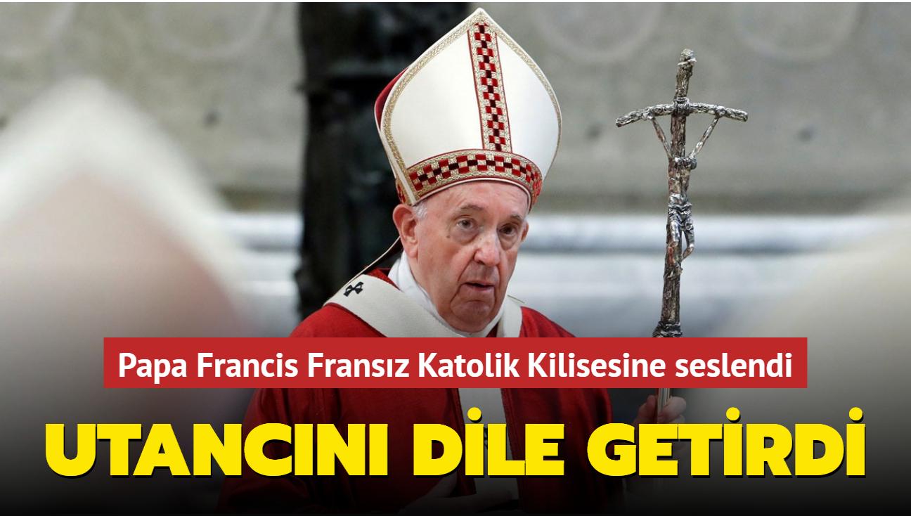 """Papa Francis: """"Utancım istismarın ölçeğiyle denk"""""""