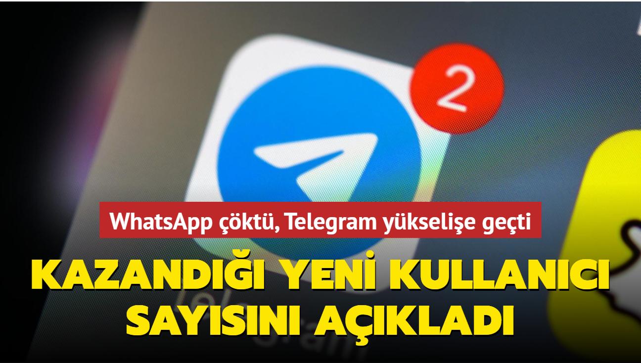 Telegram, WhatsApp'ın çöktüğü gece 70 milyon yeni kullanıcı kazandı