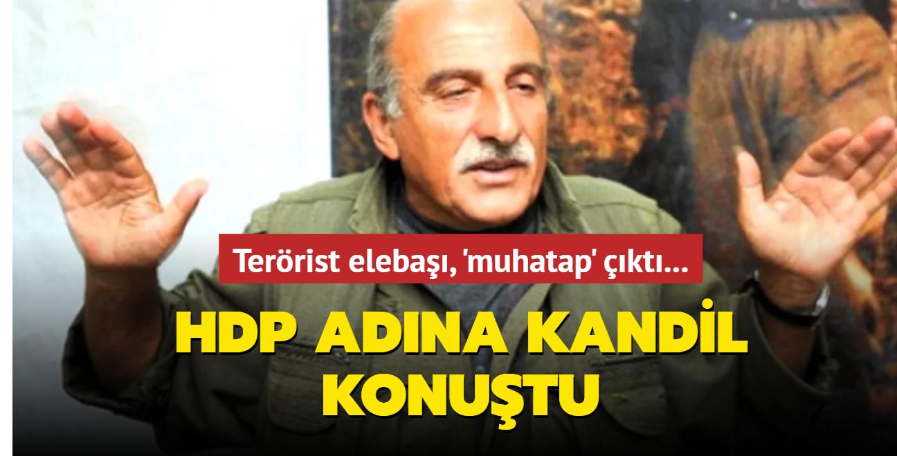 Terörist elebaşı, 'muhatap' çıktı... HDP adına Kandil konuştu