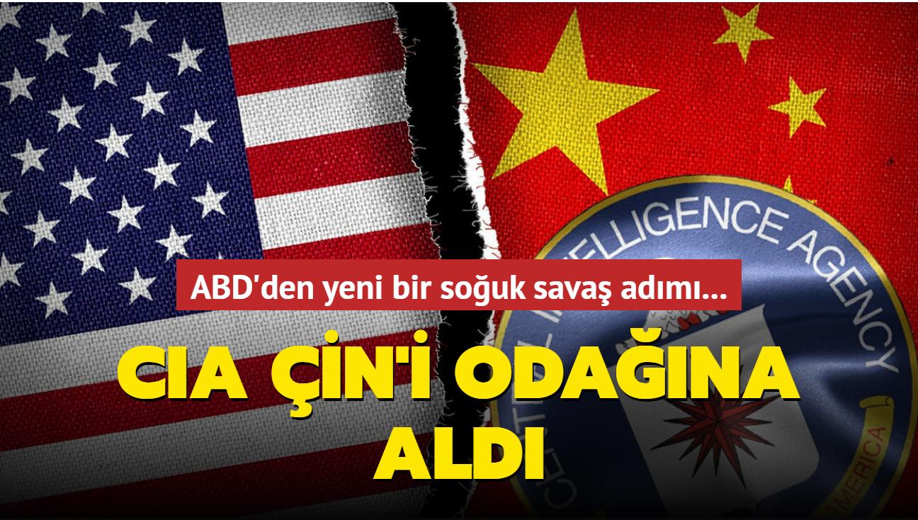 ABD'den yeni bir soğuk savaş adımı daha... CIA Çin hedefli yeni merkez kurdu