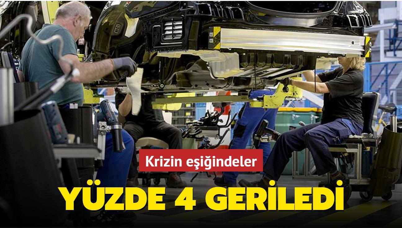 Almanya'da üretim krizi: Yüzde 4 geriledi