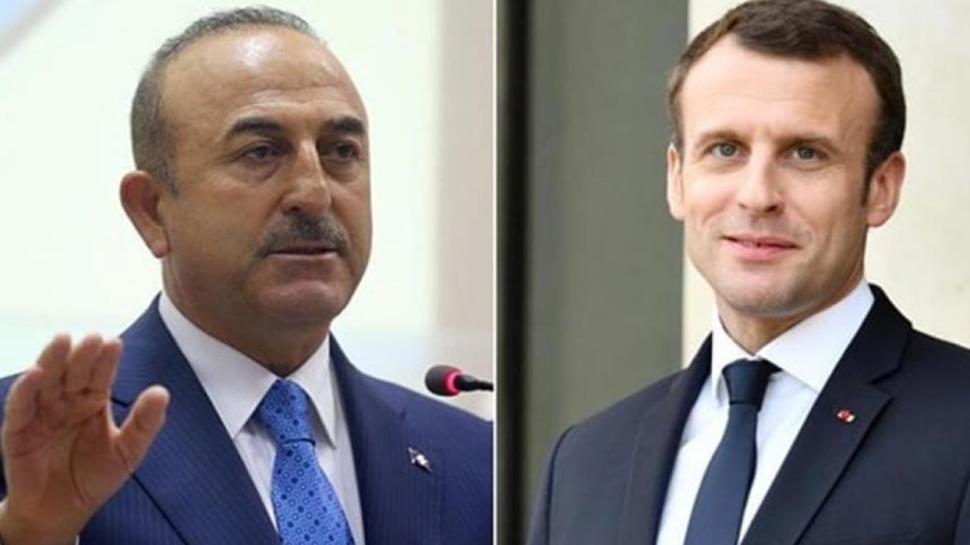 Bakan Çavuşoğlu: Macron'un bizimle ilgili söyleyecek sözü varsa yüzümüze söylesin