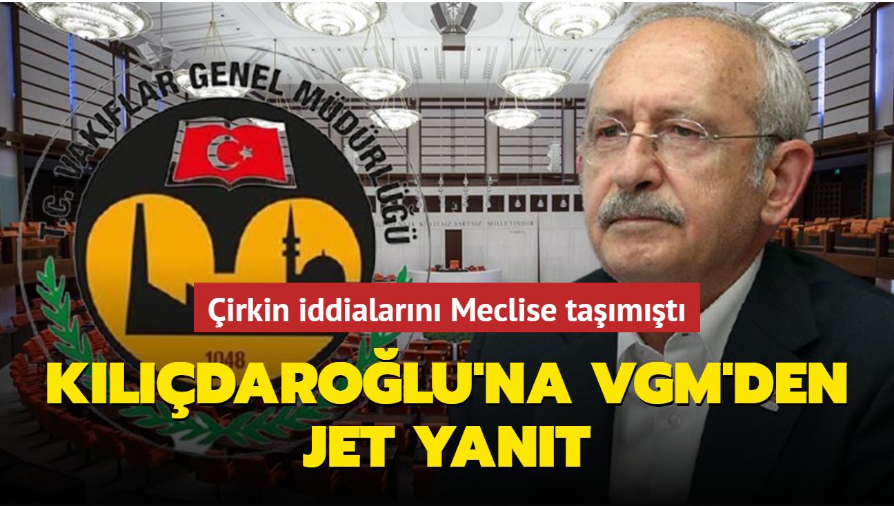 Kılıçdaroğlu'nun çirkin iddialarına VGM'den yanıt