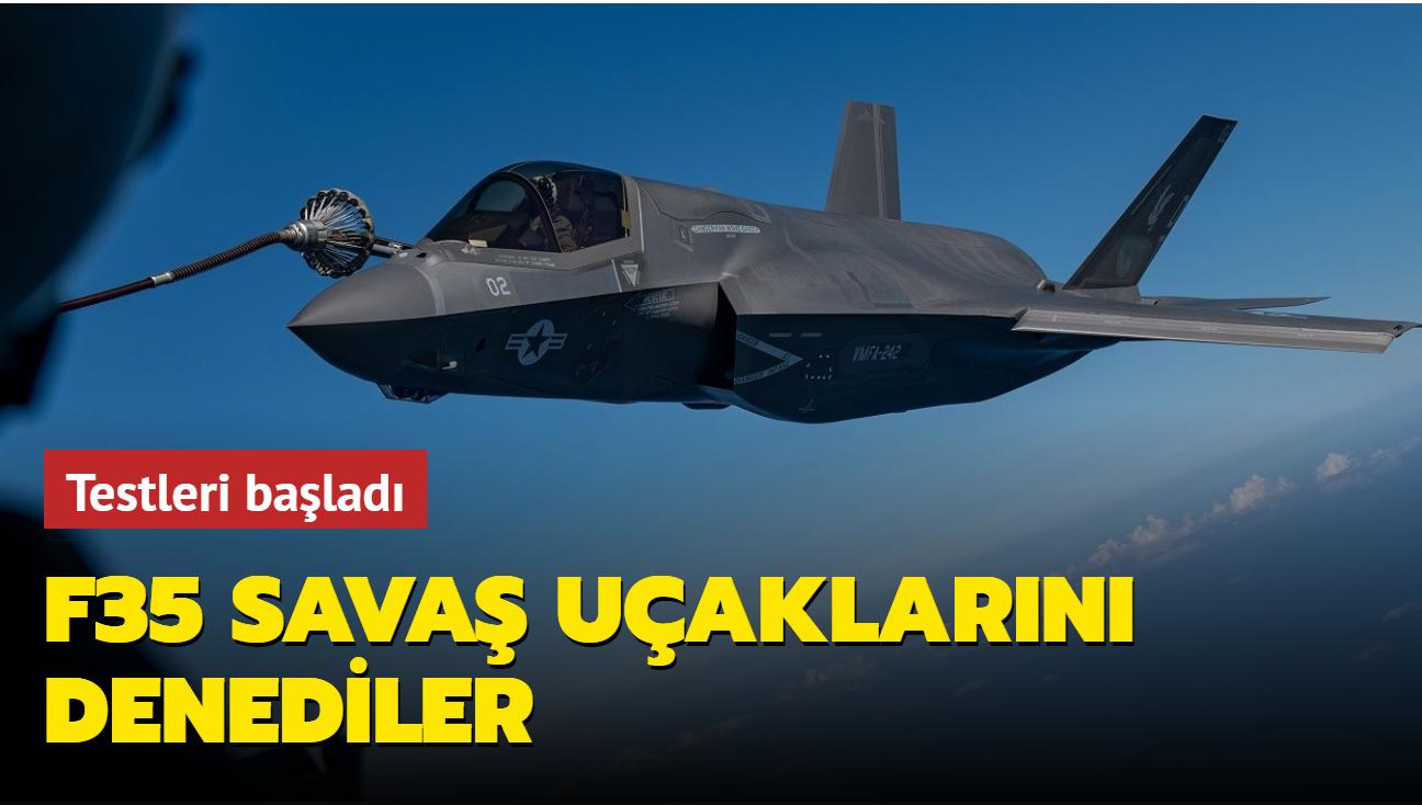 F35B savaş uçaklarını denediler... Testleri başladı