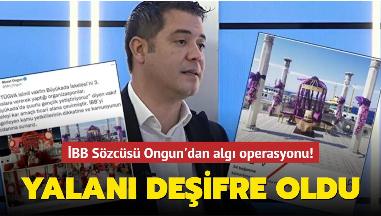 İBB Sözcüsü Ongun'dan algı operasyonu! TÜGVA iddiası anında çürüdü