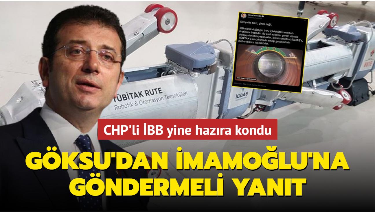 İmamoğlu, AK Parti'nin bir projesini daha sahiplendi... Tevfik Göksu'dan Milli Teknoloji Hamlesi göndermeli yanıt