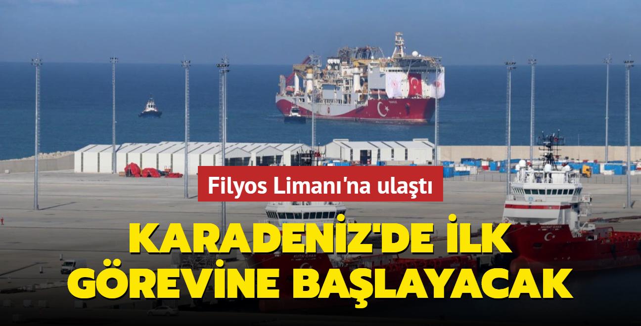 Karadeniz'de ilk görevine başlayacak... Yavuz sondaj gemisi Filyos Limanı'na ulaştı