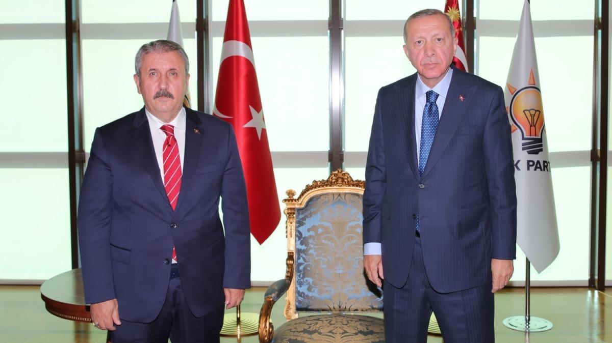 Başkan Erdoğan, BBP Genel Başkanı Destici'yi kabul etti