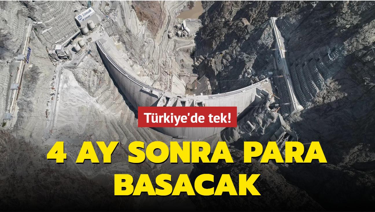 Türkiye'de tek! 4 ay sonra para basacak