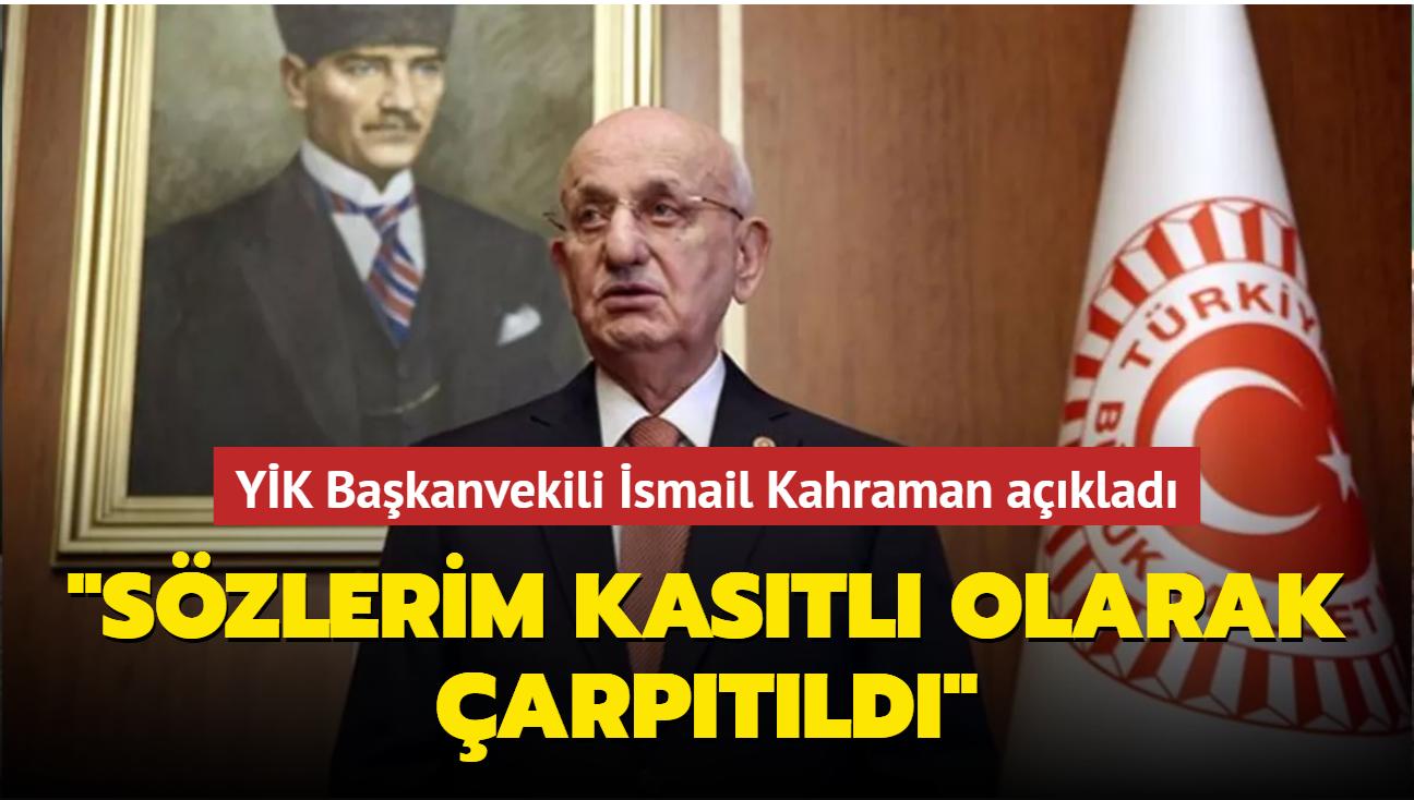 """YİK Başkanvekili İsmail Kahraman'dan """"yeni anayasa"""" açıklaması"""
