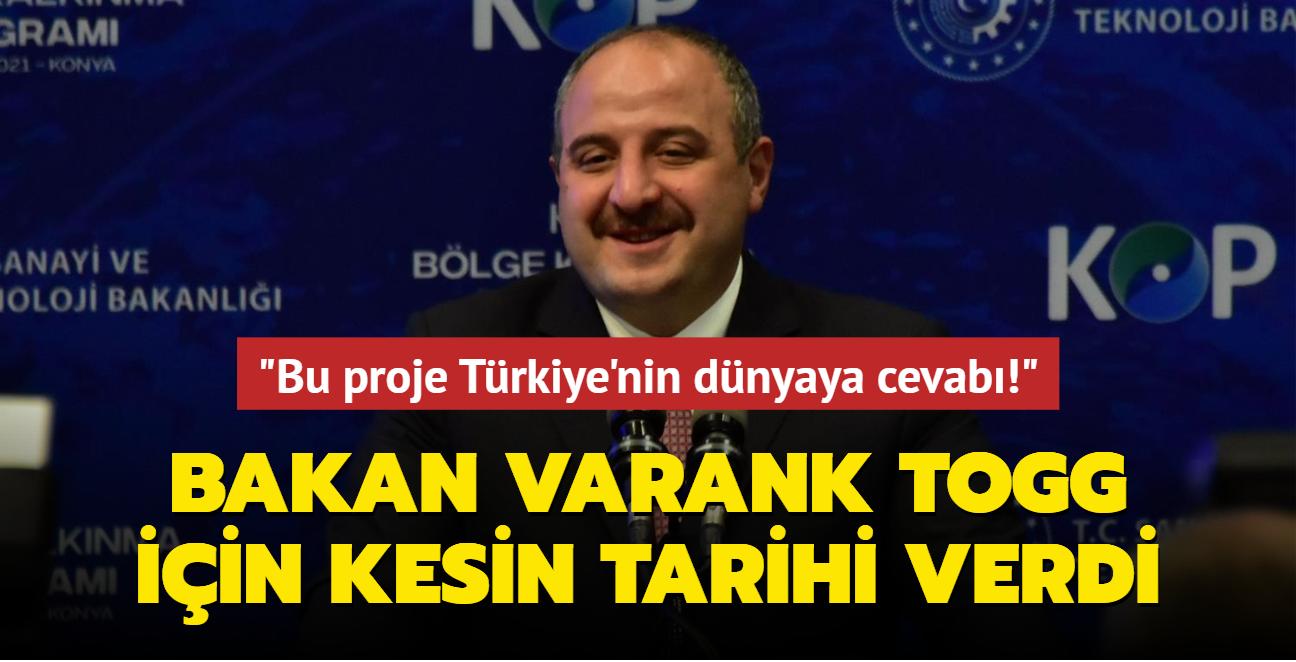 Bakan Varank TOGG için kesin tarihi verdi: Bu proje Türkiye'nin dünyaya cevabı!