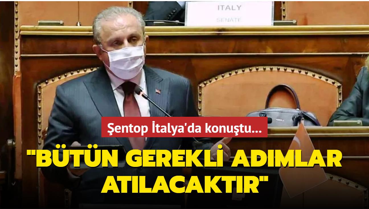 """Şentop İtalya'da konuştu... """"Bütün gerekli adımlar atacaktır"""""""