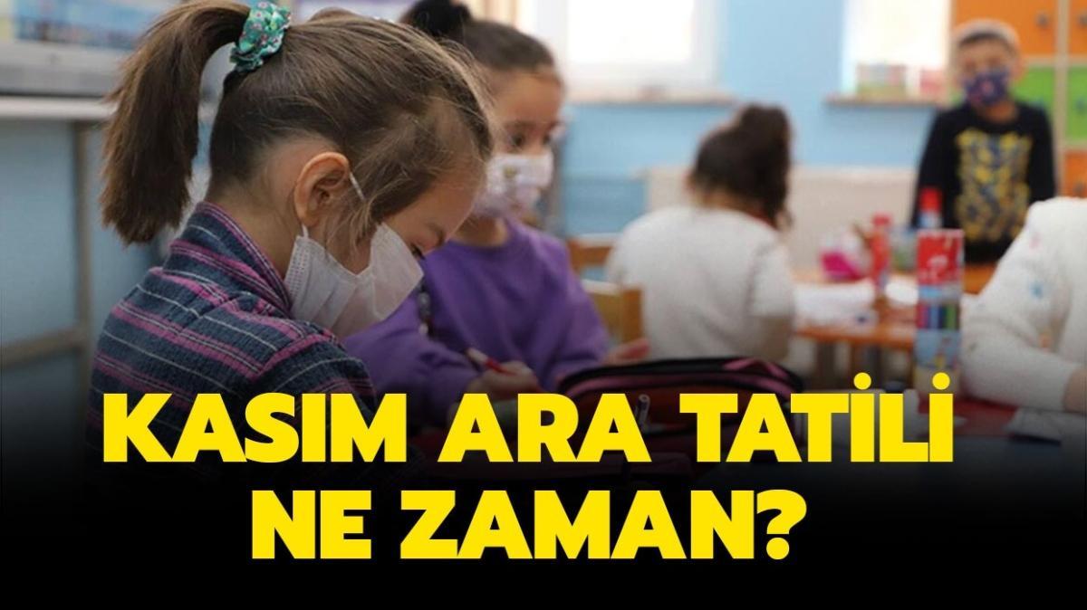"""MEB Kasım ara tatili ne zaman başlayacak"""" Okul ara tatili 2021 ne zaman"""""""