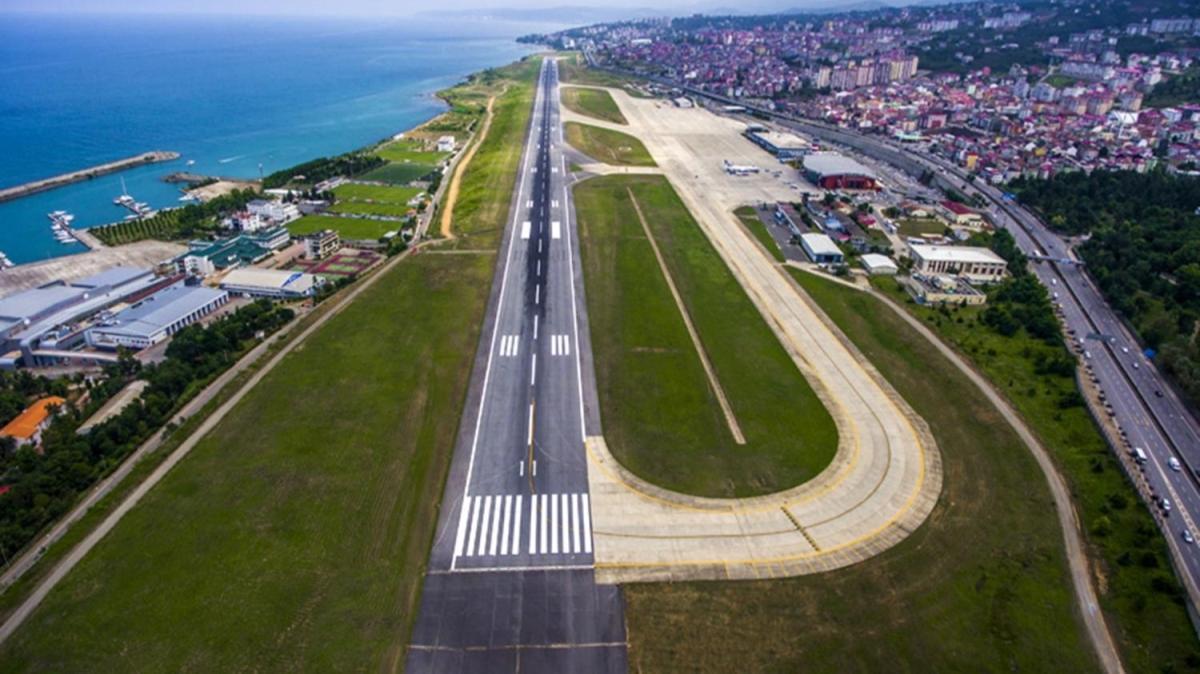 Trabzon Havalimanı'nda pist onarım çalışmaları yapılacak