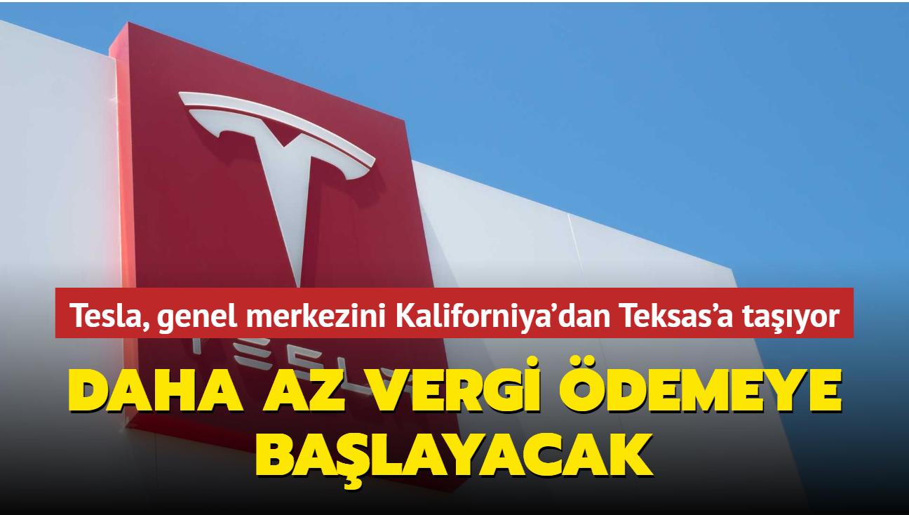 Tesla, genel merkezini Kaliforniya'dan Teksas'a taşıyor