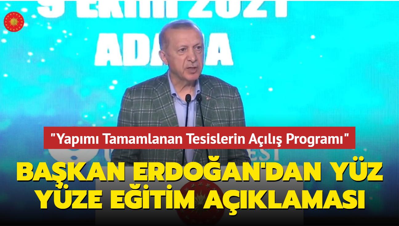 Başkan Erdoğan, Çukurova Üniversitesi Yapımı Tamamlanan Tesislerin Açılış Programı'nda konuştu