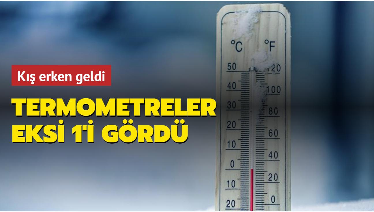 Ardahan ve Kars'ta termometreler eksi 1 dereceyi gördü