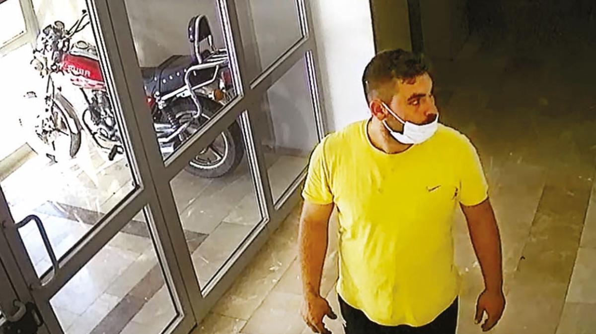 Hırsızı sarı tişörtü yakalattı