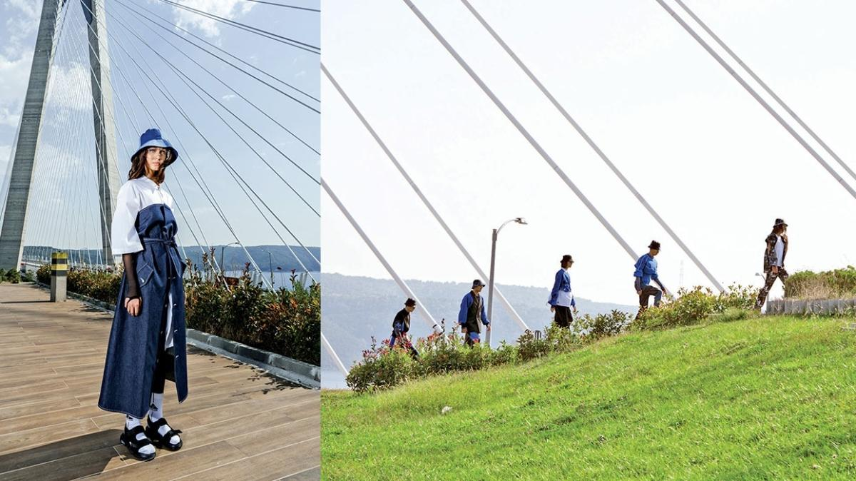 Yavuz Sultan Selim Köprüsü'nde moda şov! 322 metre yükseklikte defile