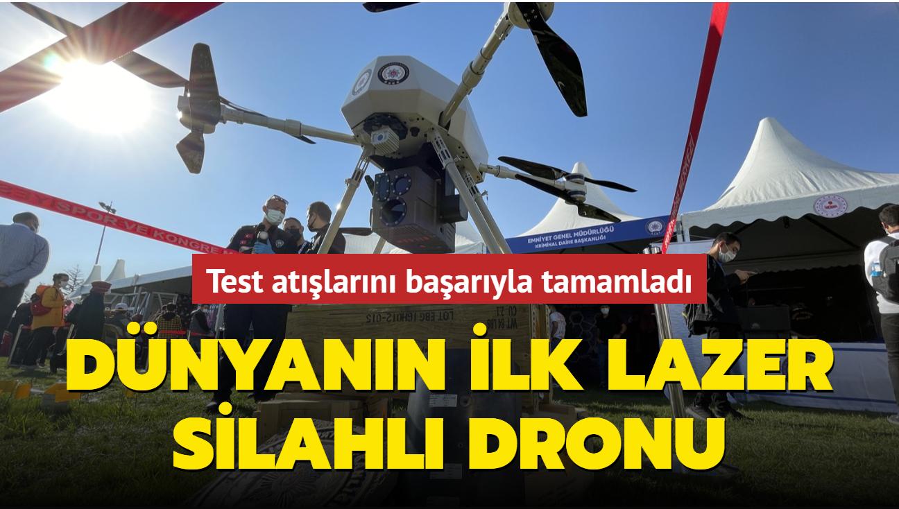 Test atışlarını başarıyla tamamladı... Dünyanın ilk lazer silahlı dronu