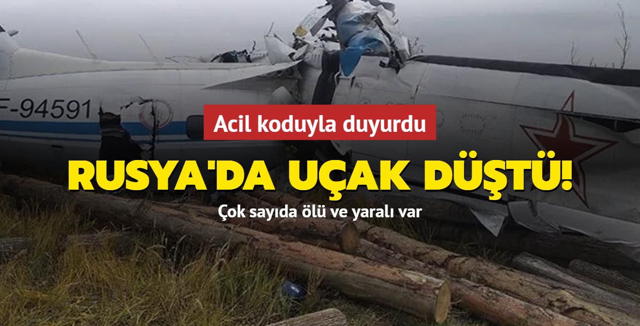 Rusya'da içerisinde 20 paraşütçü ve 2 mürettebat bulunan L-410 tipi uçak düştü