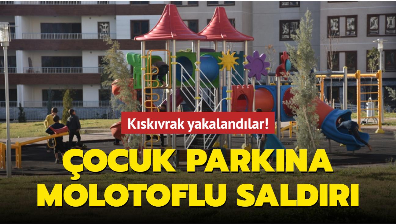 Sultangazi'de çocuk parkına molotoflu saldırı: Kıskıvrak yakalandılar!
