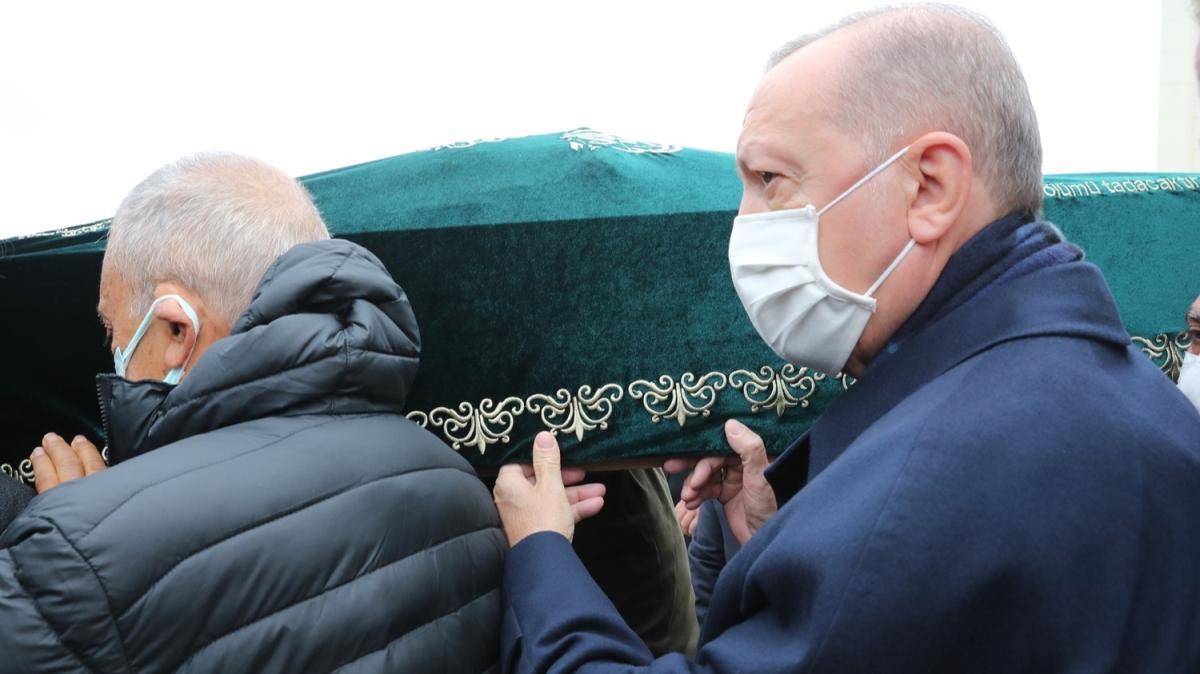 Başkan Erdoğan iş insanı Ahmet Gür'ün cenazesine katıldı