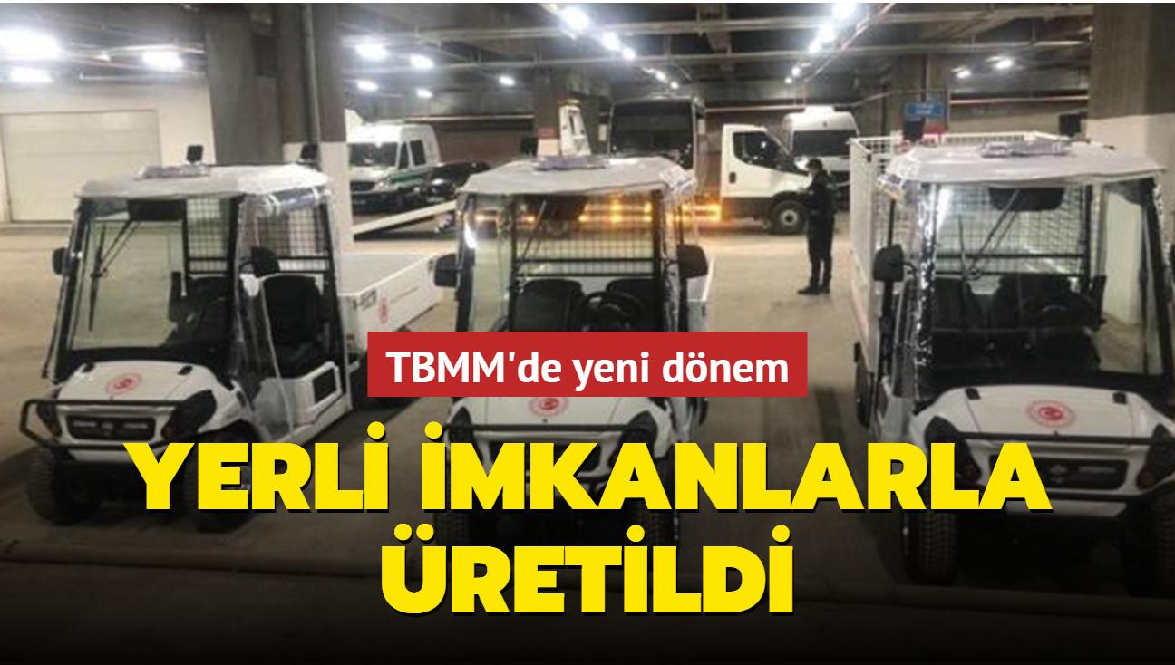 Yerli imkanlarla üretilen elektrikli mini kamyonetler Meclisteki yerini aldı