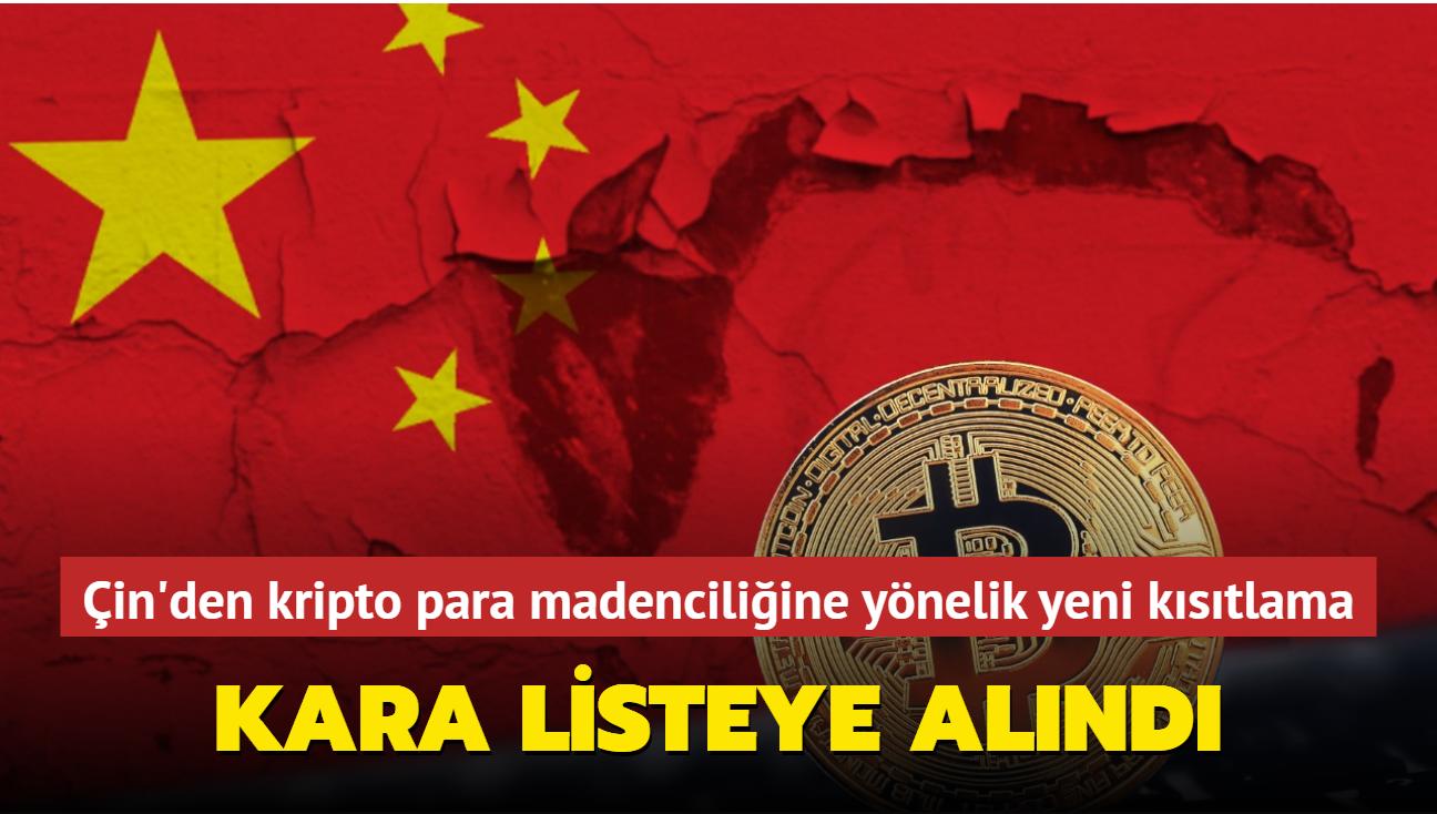 Çin, kripto para madenciliğine yönelik yatırımları sınırlandırmaya başladı