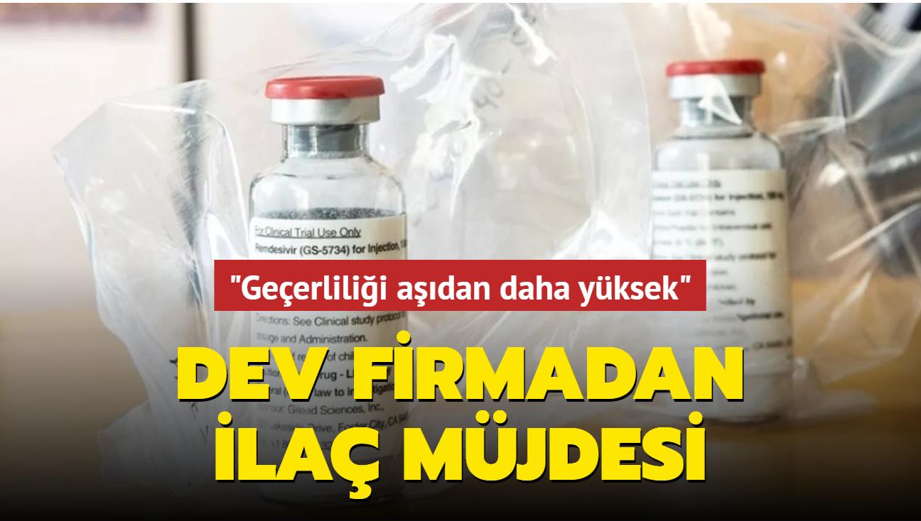 Dev firma ilaç için Kovid-19'a karşı kullanım izni istedi