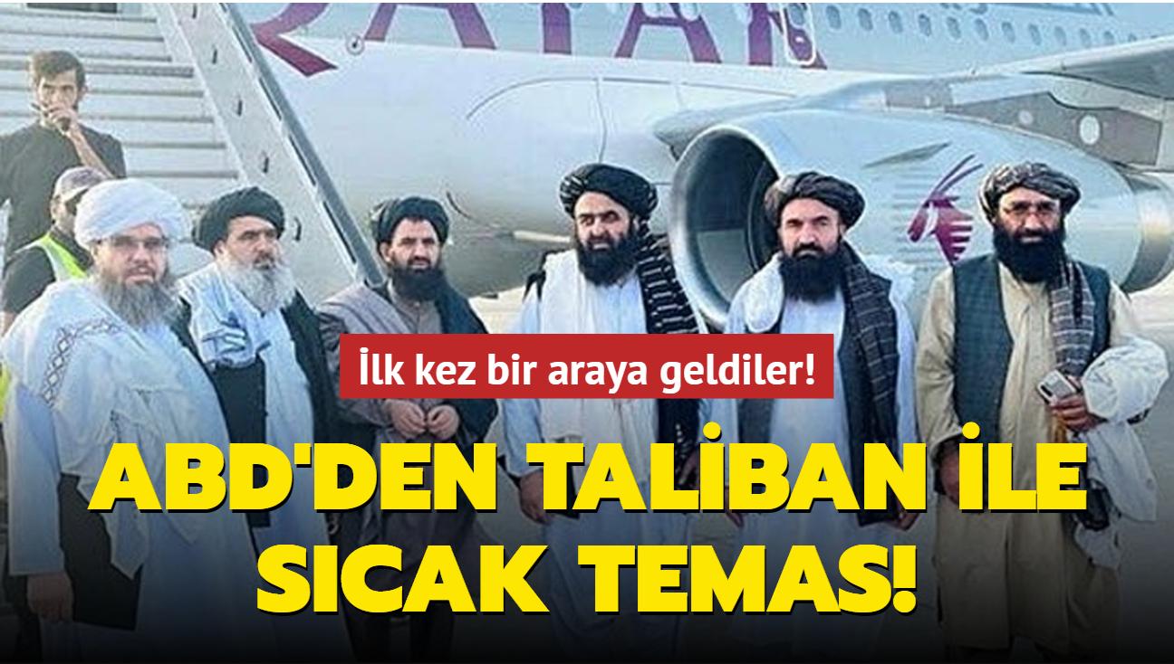 İlk kez bir araya geldiler! ABD'den Taliban ile sıcak temas!