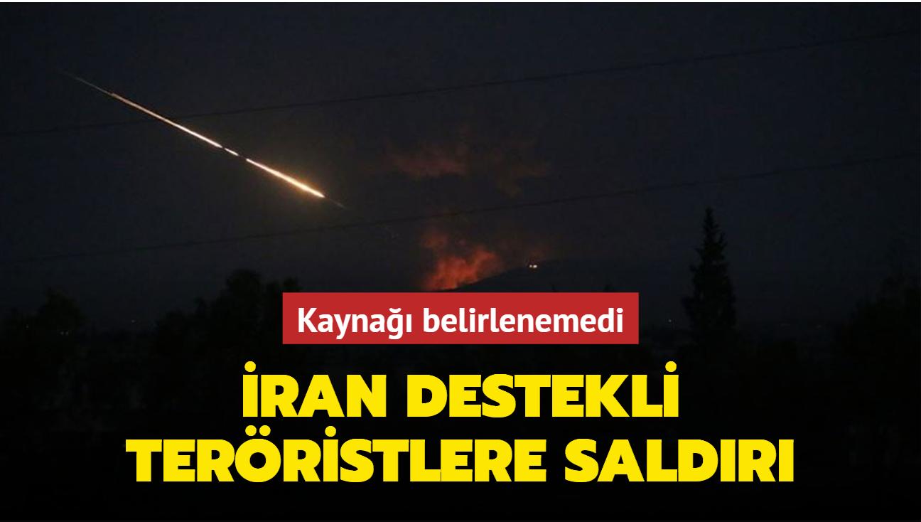 Kaynağı belirlenemedi... İran destekli teröristlere hava saldırısı