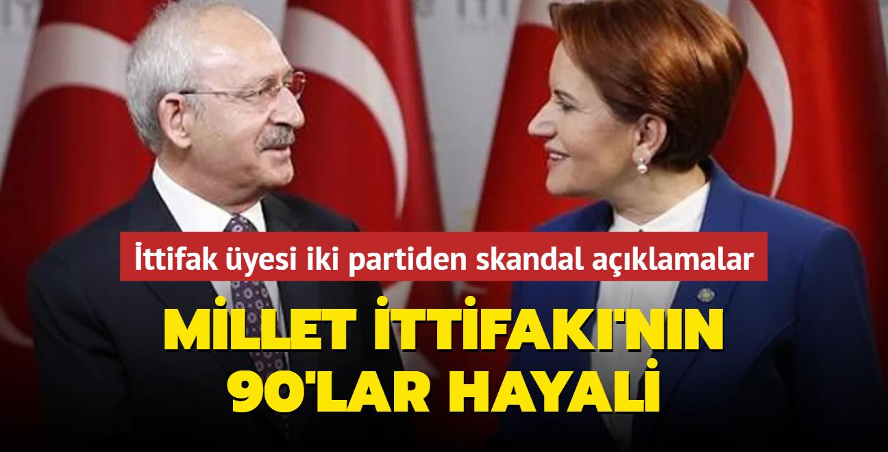 Millet İttifakı'nın 90'lar hayali! İttifak üyesi iki partiden peş peşe skandal açıklamalar