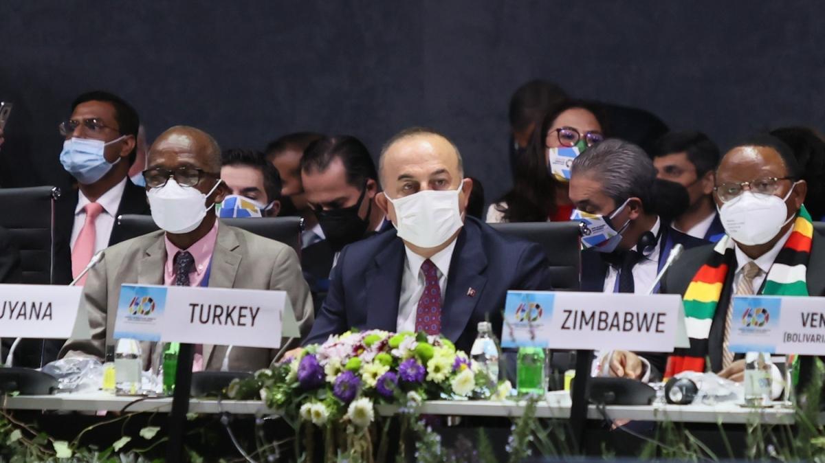Bakan Çavuşoğlu'ndan Bağlantısızlar Hareketi'nin 60. yıl dönümü toplantısında önemli mesajlar