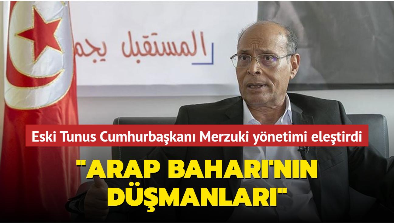 """Tunus'un eski cumhurbaşkanı Merzuki, ülke yönetimine seslendi: """"Arap Baharı'nın düşmanları"""""""