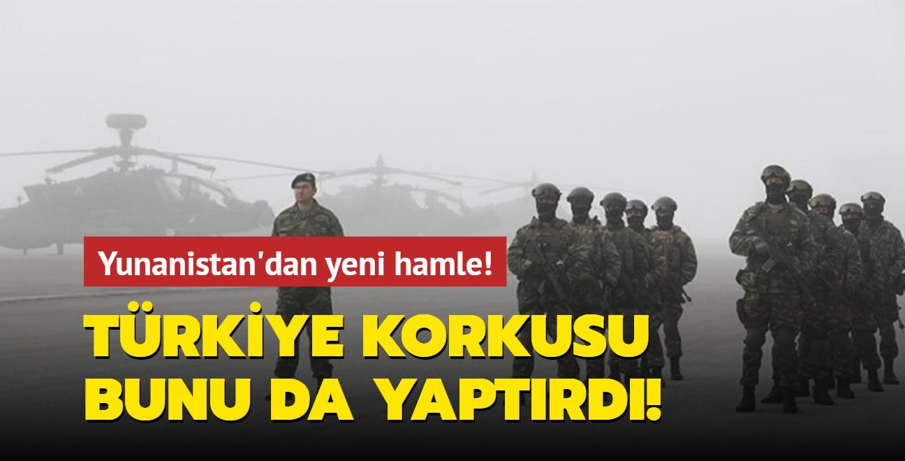 Türkiye korkusu bunu da yaptırdı! Yunanistan'dan yeni hamle!