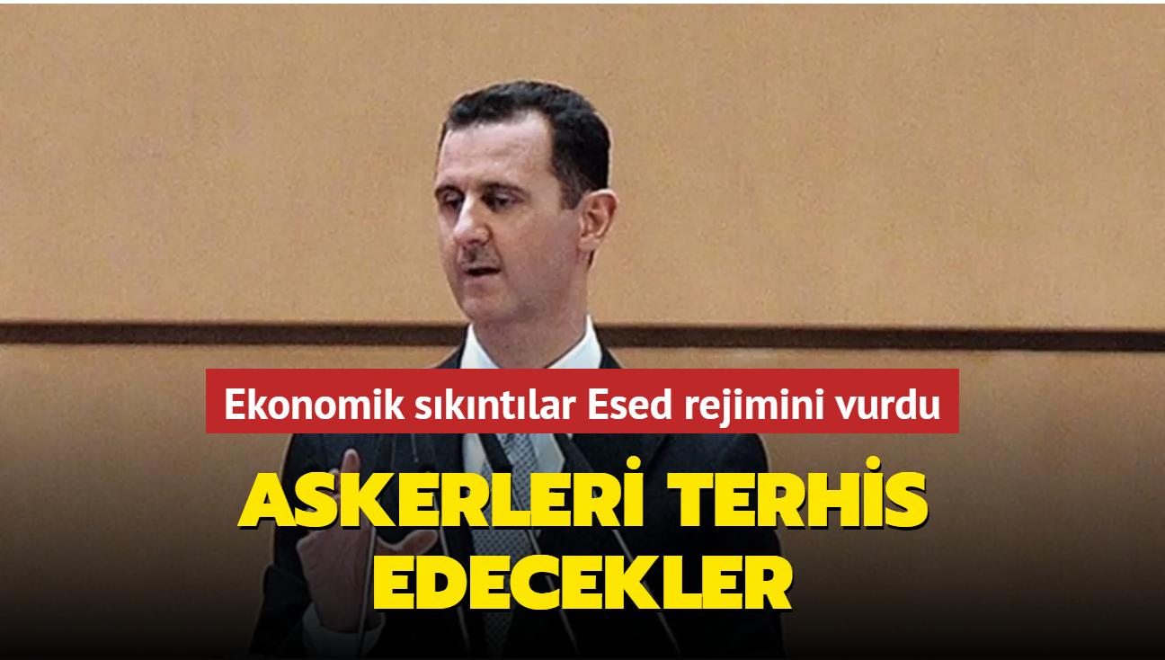 Ekonomik sıkıntılar Esed rejimini vurdu... Askerleri terhis edecekler