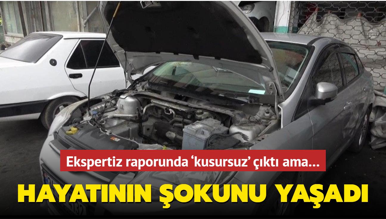 """Ekspertiz tarafından """"kusursuz"""" olarak kaydedilen aracın 20 bin lira masrafı çıktı"""